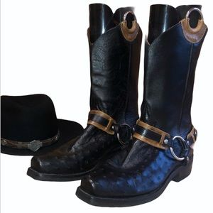 Jurassic Boots Co. Ostrich Leather Cowboy Boots
